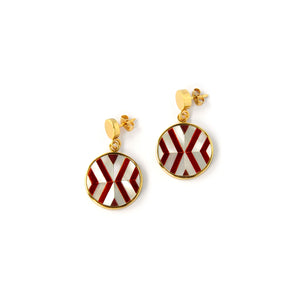 Vivian Mini Earrings - Double Chevron