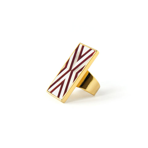 Val Ring - Double Chevron