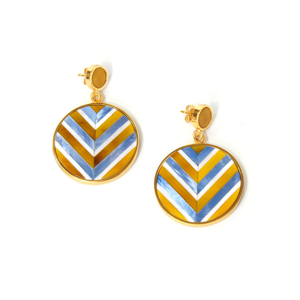 Vivian Earrings - Chevron