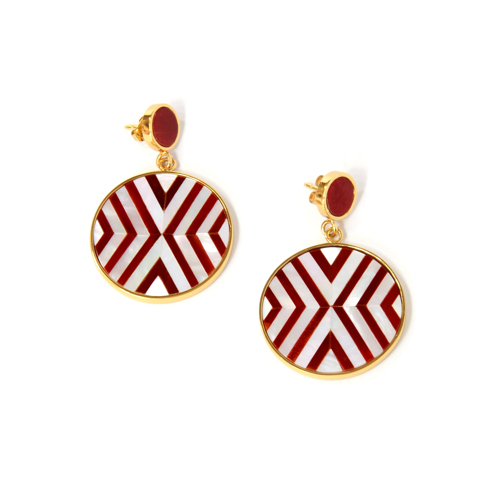 Vivian Earrings - Double Chevron