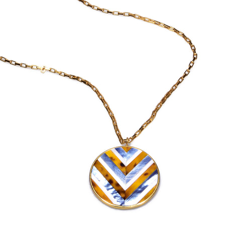 Selene Necklace - Chevron
