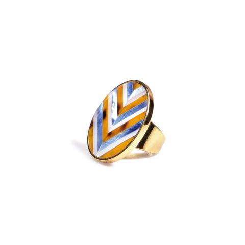 Sera Ring - Chevron