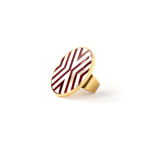 Sera Ring - Double Chevron
