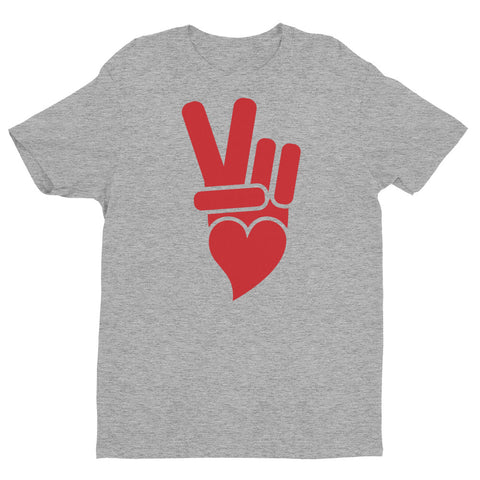 Classic Peace + Love™ brand icon with red printed icon.
