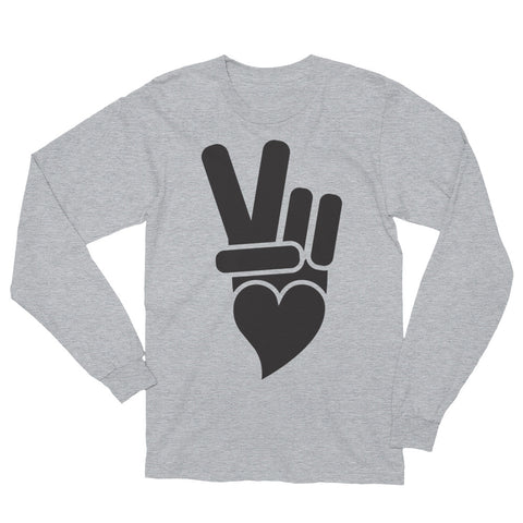 Classic Peace + Love™ brand icon with black printed icon.