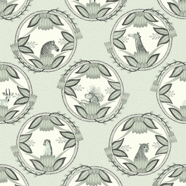 Ardmore Cameos - Grey - Wallpaper Trader
