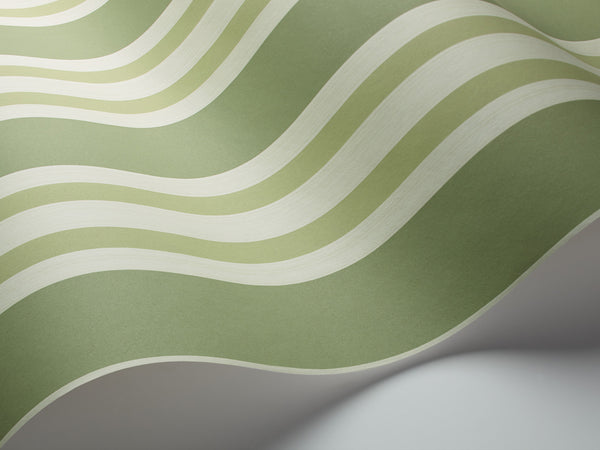 Polo Stripe - Leaf Green