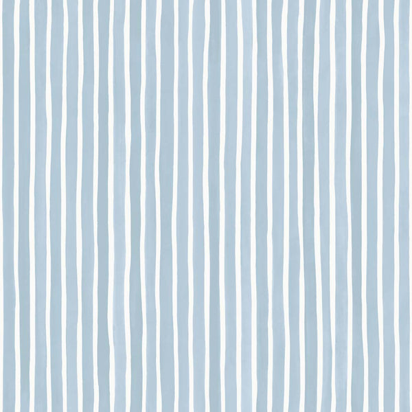 Croquet Stripe - Blue - Wallpaper Trader