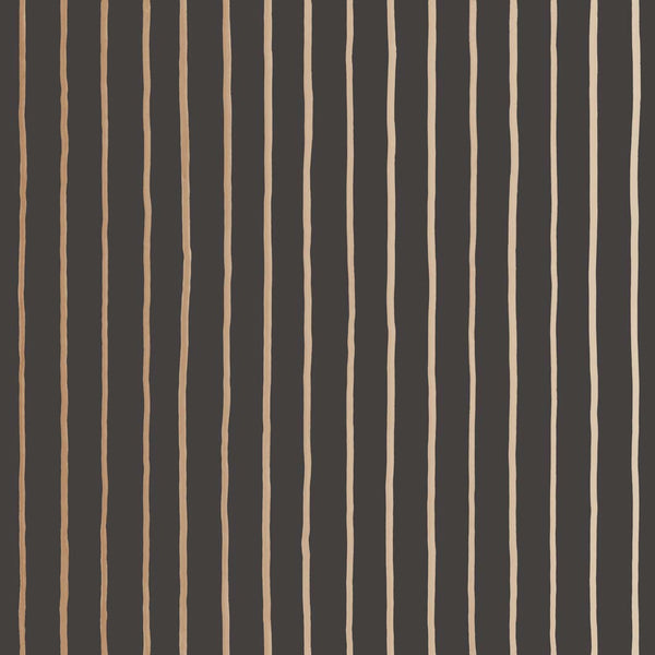 College Stripe - Charcoal and Gold