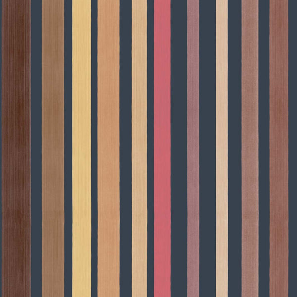 Carousel Stripe - Rouge Red - Wallpaper Trader