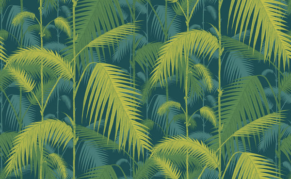 Palm Jungle - Petrol and Lime