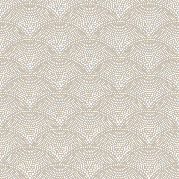 Feather Fan - Taupe - Wallpaper Trader