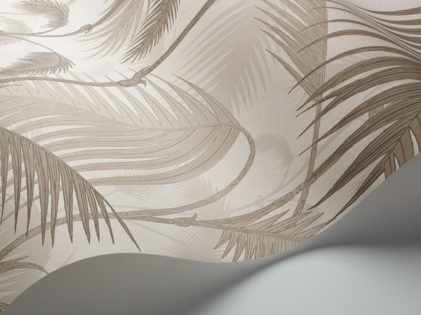 Palm Jungle - Stone & Taupe - Wallpaper Trader