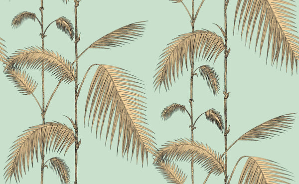 Palm Leaves - Mint & Sand