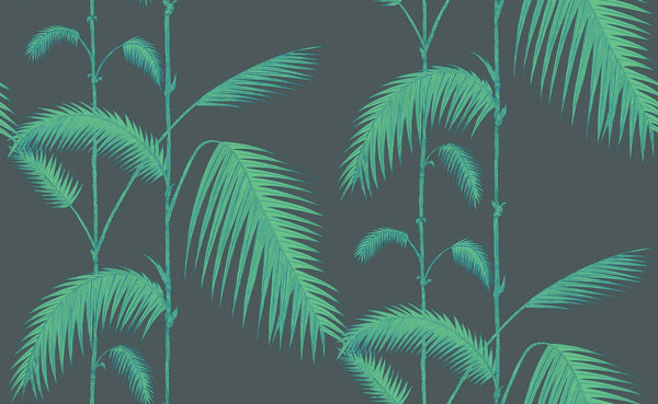 Palm Leaves - Viridian - Wallpaper Trader