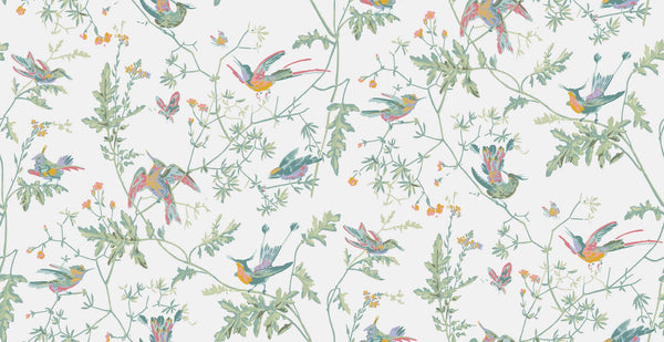 Hummingbirds - Pastel - Wallpaper Trader