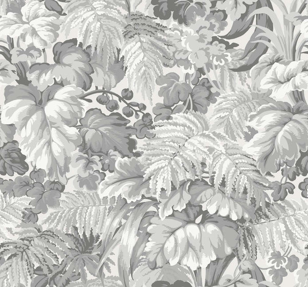 Inspired by the Majorelle Gardens in Marrakesh, Royal Fernery wallpaper is a lush motif of abundant leaves printed in chalky, all matte palettes of Khaki and Print Room Blue, Forest Green, Warm Grey, and the soft yet arresting Slate Blue and Blush Pink. The design's tapestry-like feel originates from an old French archive piece making the paper an opulent feature in any interior.