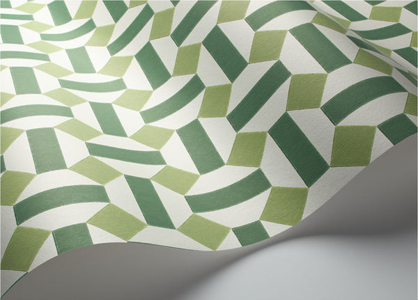 Alicatado-  Leaf Greens on Chalk - Wallpaper Trader