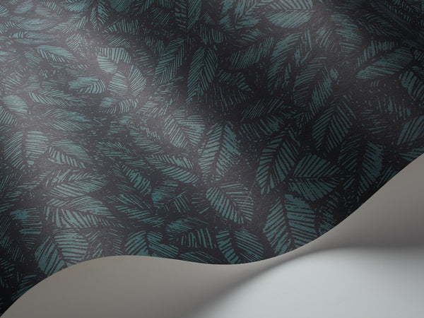 Amorina Forest Leaves - Dark Teal