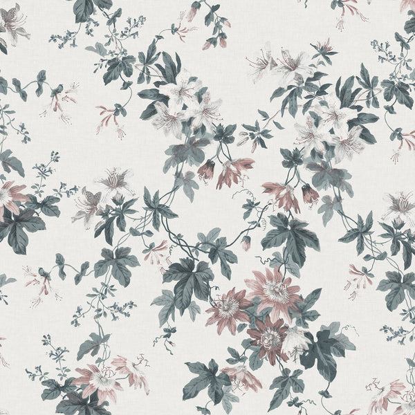 Sandra - Powder White - Wallpaper Trader