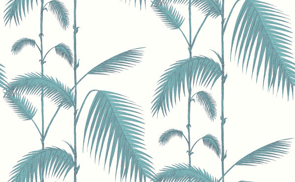 Palm Leaves - Green on White
