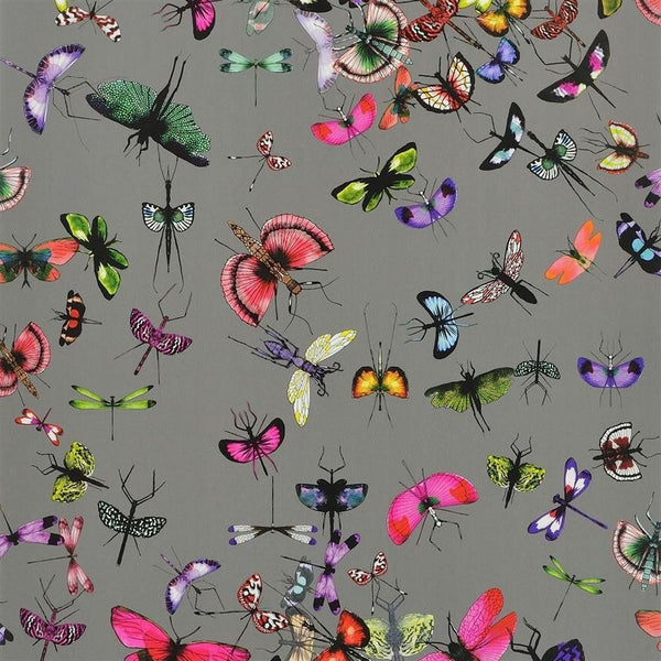 Mariposa Butterfly - Grey - Wallpaper Trader