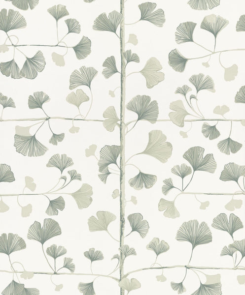 Ginkgo - Light Green - Wallpaper Trader