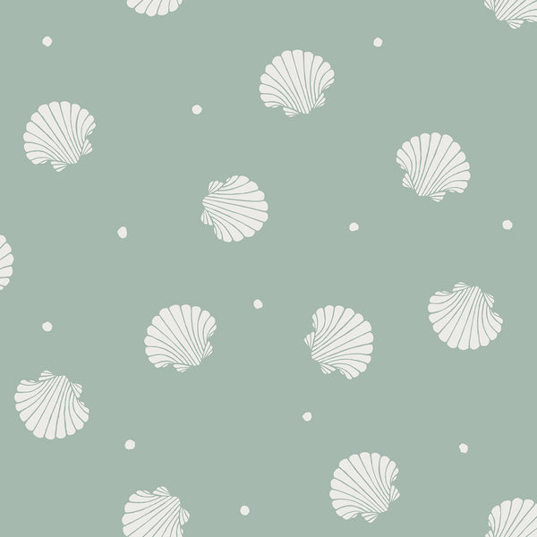 Rio Shells - Teal - Wallpaper Trader