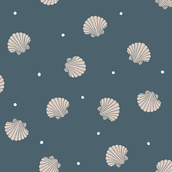Rio Shells - Blue - Wallpaper Trader