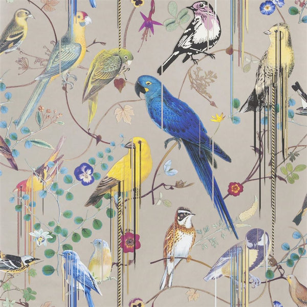 Christian Lacroix Histories Naturelles Birds Sinfonia Cuivre Wallpaper