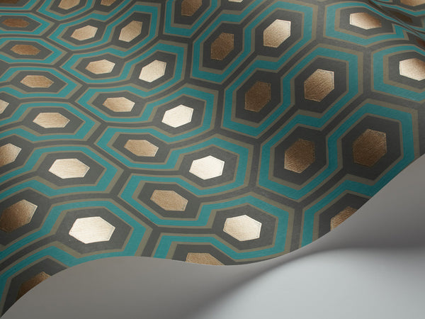 Hicks Hexagon - Teal & Gold