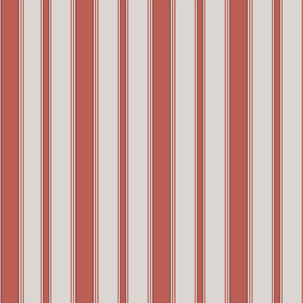 Cambridge Stripe - Red