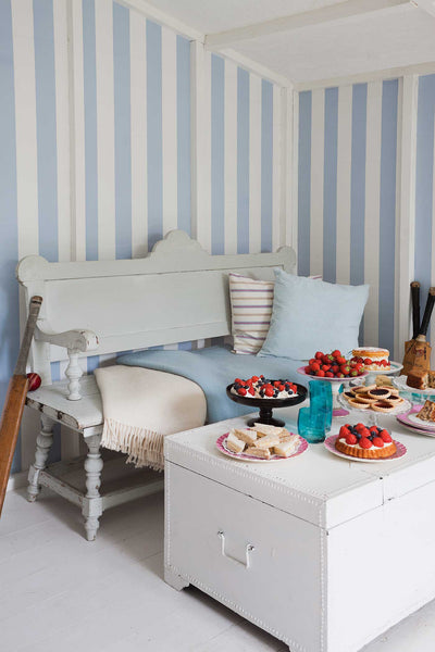 Glastonbury Stripe - Pale Blue