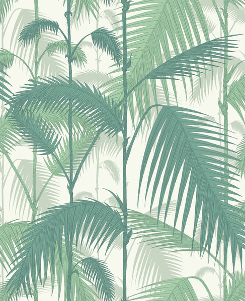 Palm Jungle - Forest Green On White