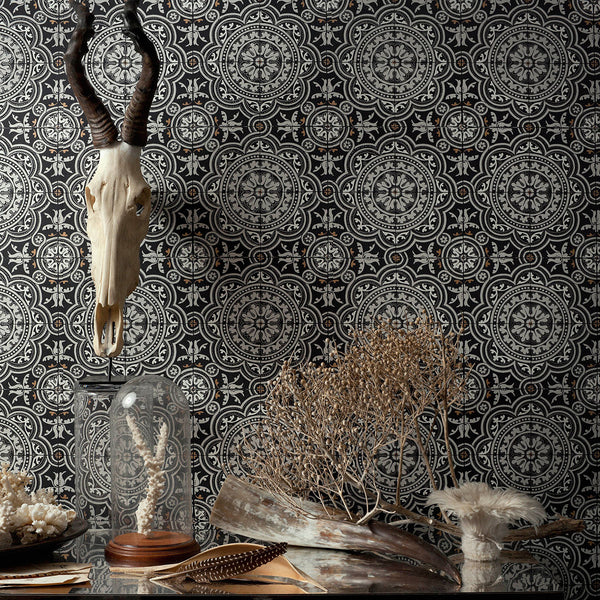 Piccadilly - Ochre - Wallpaper Trader