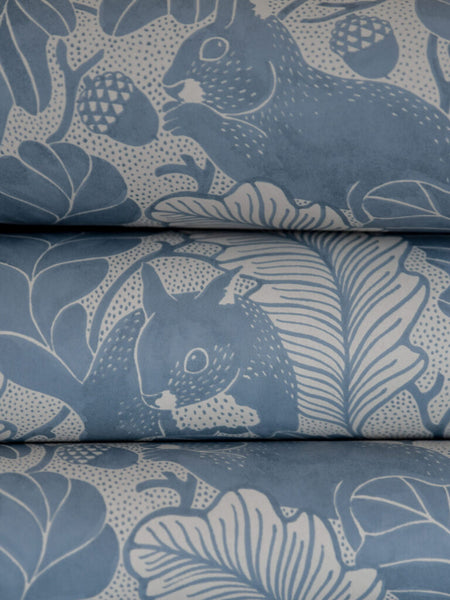 Oak Tree Tails - Blue - Wallpaper Trader