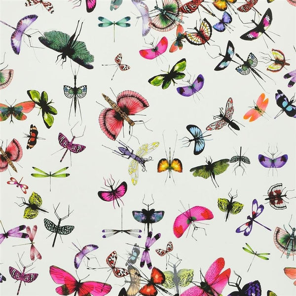 Mariposa Butterfly - White - Wallpaper Trader