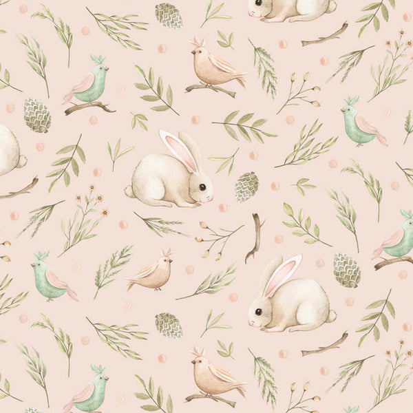 Forest Baby Bunny - Pink