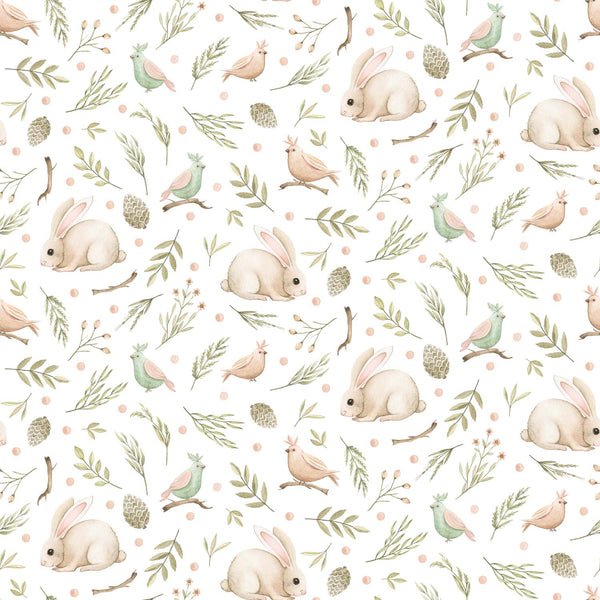 Forest Baby Bunny - White