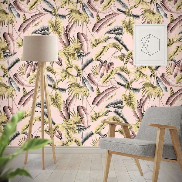 Le Tropique - Pink - Wallpaper Trader