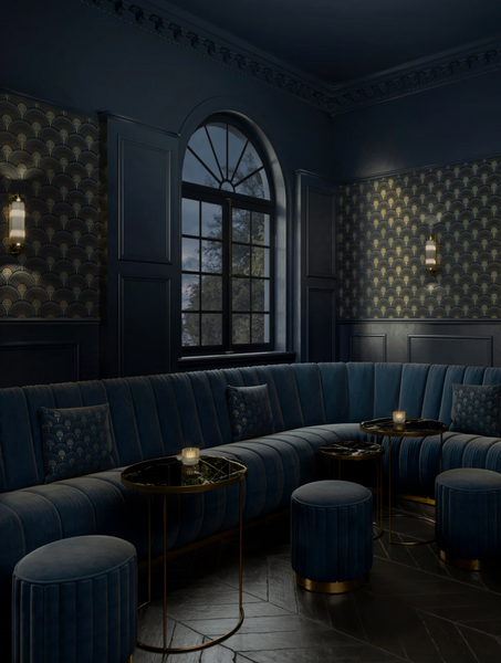 Deco Martini - Midnight Gold - Wallpaper Trader