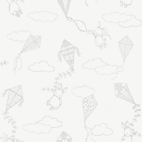 Up&Away - White and Grey - Wallpaper Trader