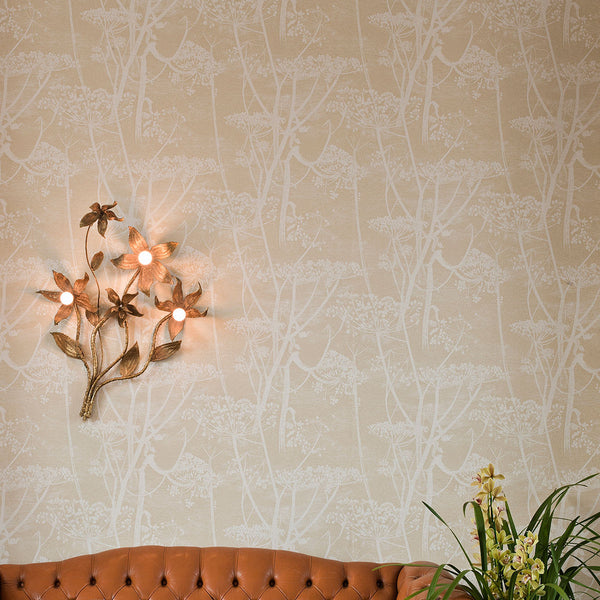 Cow Parsley - Linen - Wallpaper Trader