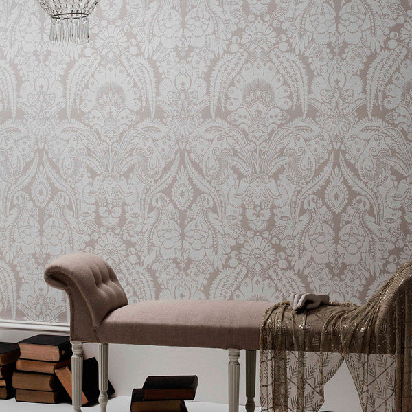 Chatterton - French Yellow & Ivory - Wallpaper Trader
