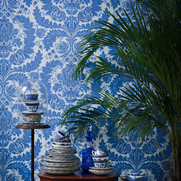 Coleridge - Linen & White - Wallpaper Trader