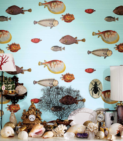 Acquario Fish - Seafoam - Wallpaper Trader