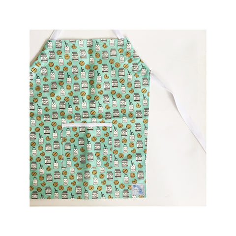 Milk and Cookie Frankie and Noodle Kids Apron