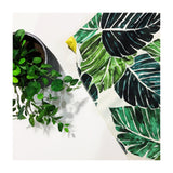 Tropical Leaf Minky Blanket