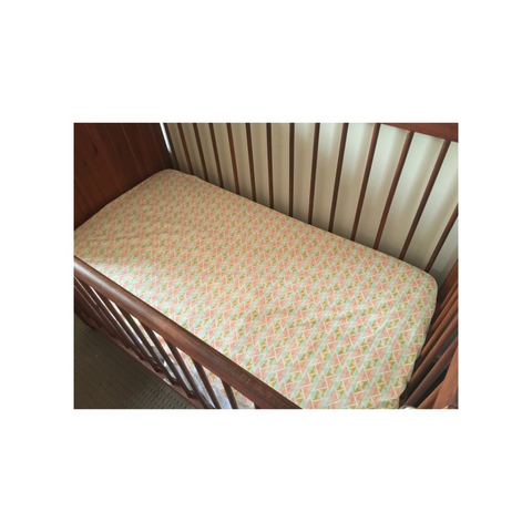 Little Triangles Fitted Cot Sheet