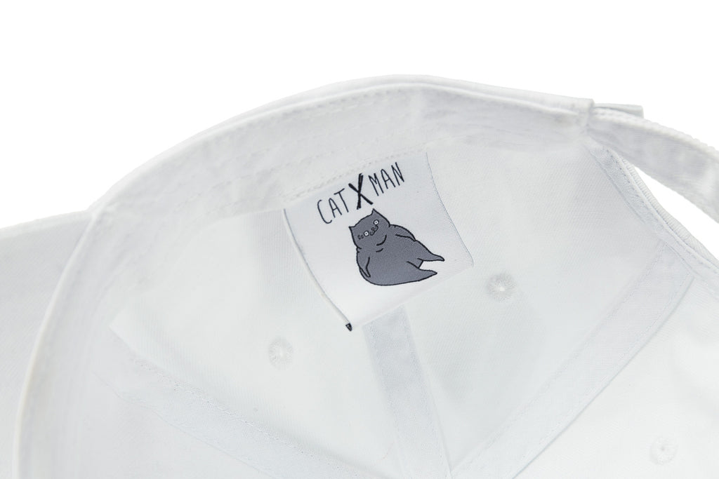 'CATXMAN DAD CAP WITH STAMP PRINT
